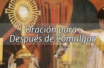 Oración para Después de Comulgar
